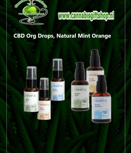 CBD Org Drops, Natural Mint Orange