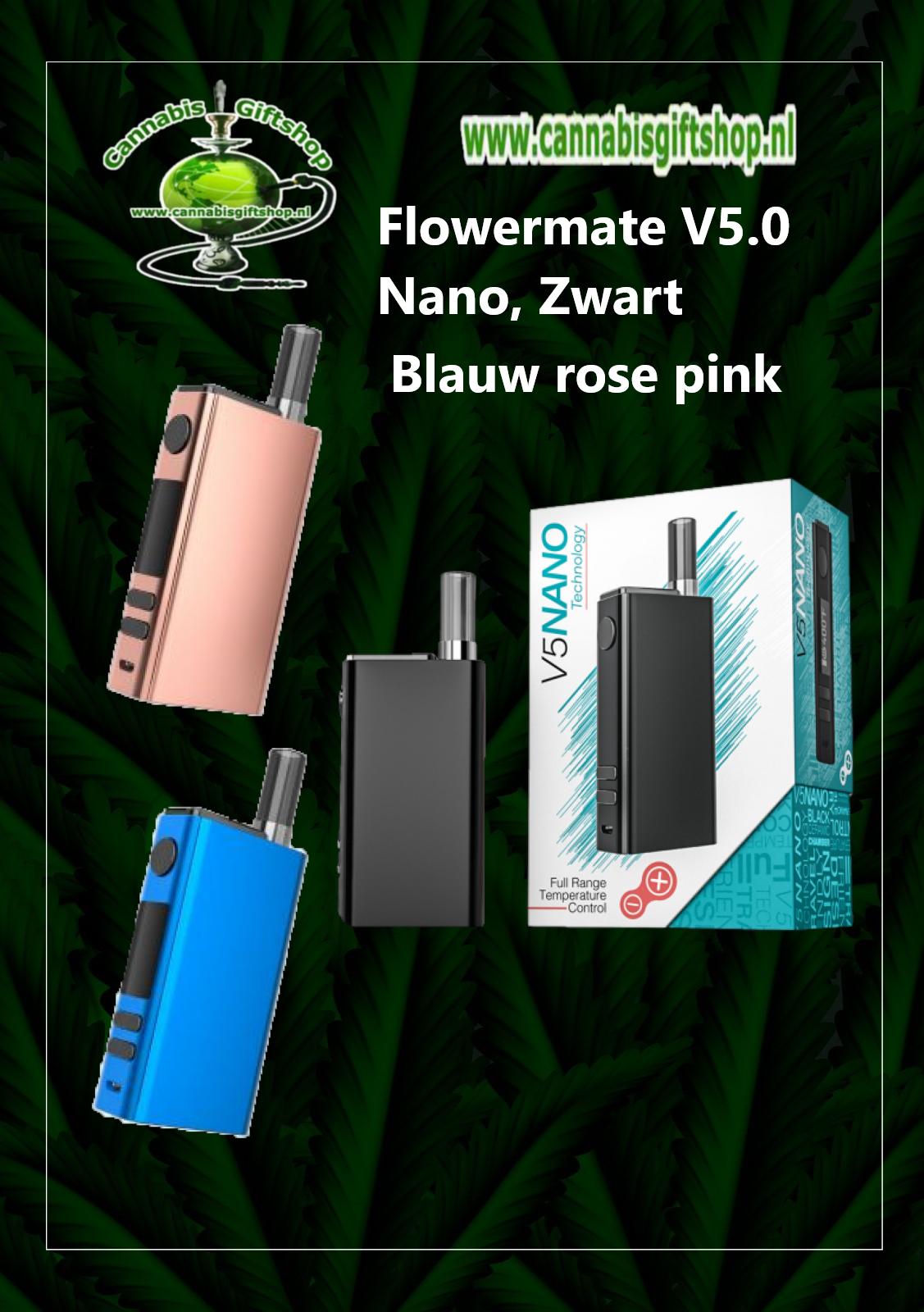 Flowermate V5.0 Nano, blauw zwart pink rose