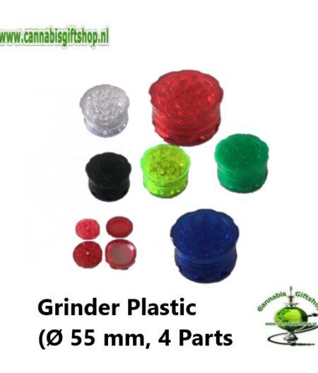 Grinder Plastic (Ø 55 mm, 4 Parts), Mixed Color