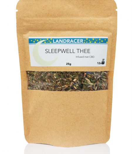 De Landracer Sleepwell thee infused met Cannabidiol.
