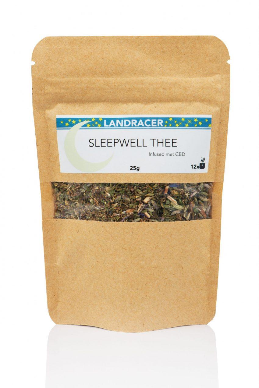 De Landracer Sleepwell thee infused met Cannabidiol.