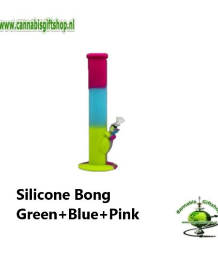 Silicone Bong Green+Blue+Pink