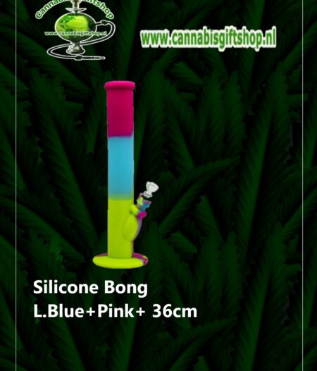Silicone Bong L.Blue+Pink+ 36cm