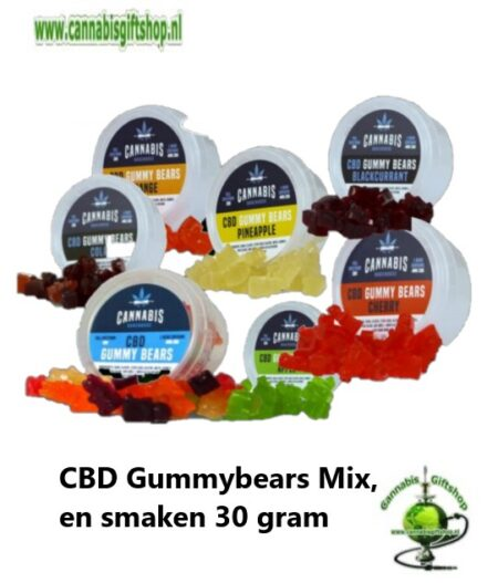 CBD Gummybears Mix, en smaken 30 gram