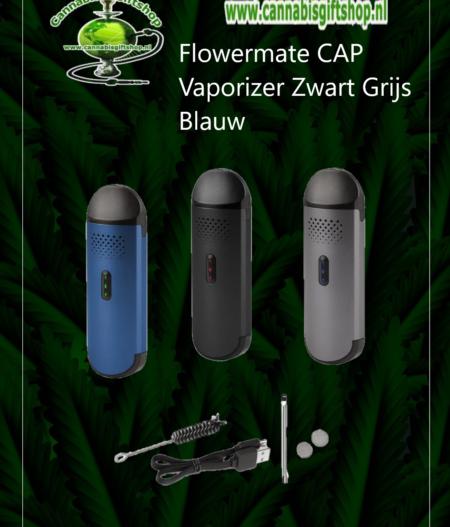 Flowermate CAP Vaporizer Zwart Grijs Blauw