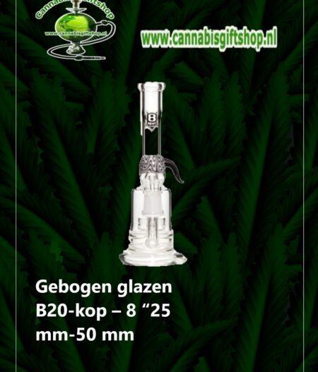 "Gebogen glazen B20-kop – 8 ""25 mm-50 mm"