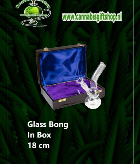 Glass Bong In Box 18 cm