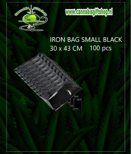 IRON BAG SMALL BLACK 30 x 43 CM 100 pcs