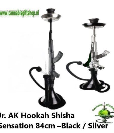 Jr. AK Hookah Shisha Sensation 84cm –Black / Silver