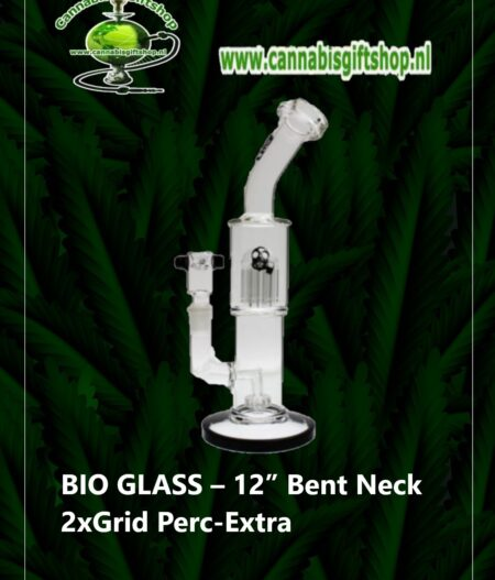 "BIO GLASS – 12"" Bent Neck 2xGrid Perc-Extra"