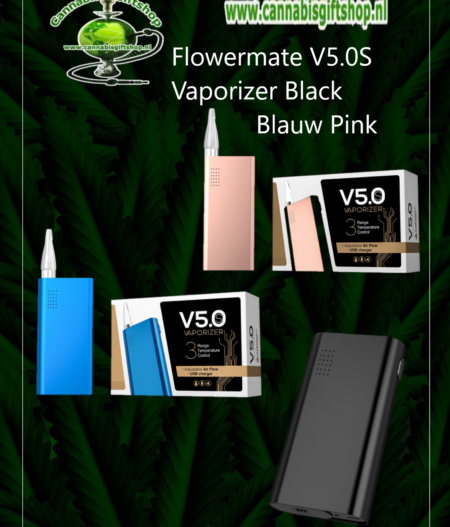 Flowermate V5.0S Vaporizer blauw Zwart Pink