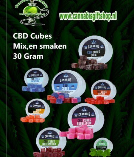 CBD Cubes Mix,en smaken 30 gram