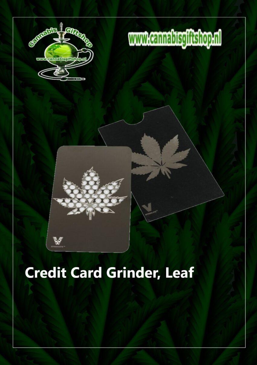 Credit Card Grinder, Leaf