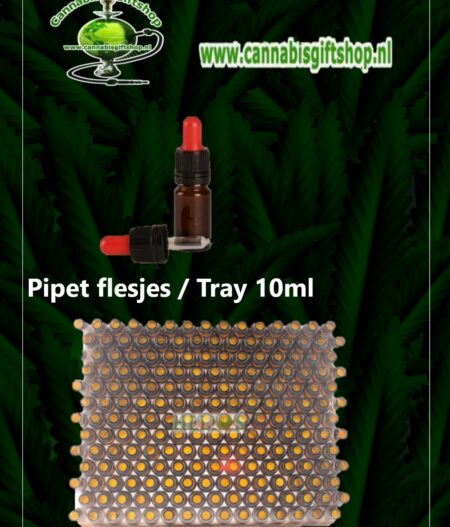 Pipet flesjes Tray 10ml