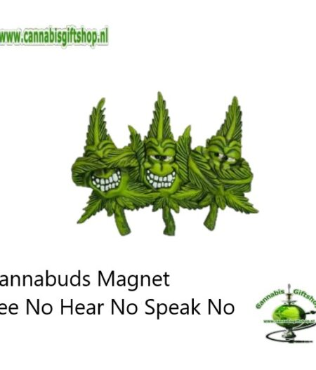 Cannabuds Magnet See No Hear No Speak No