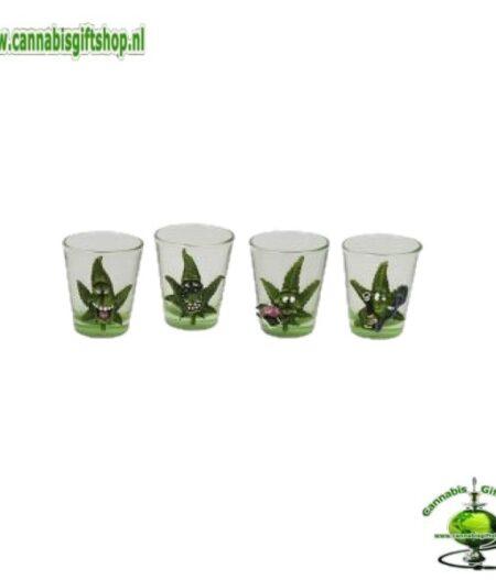 Cannabuds Shot Glasses (4 pcs)