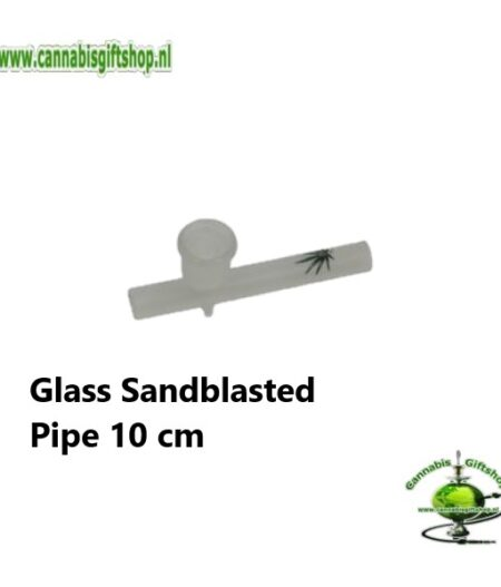 Glass Sandblasted Pipe 10 cm