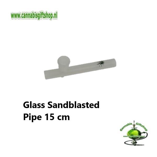 Glass Sandblasted Pipe 15,5 cm
