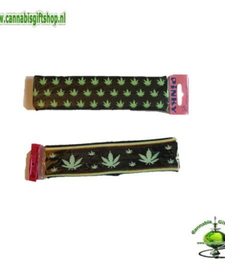 hairband black rasta leaf