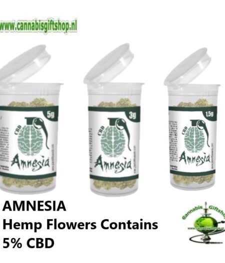 AMNESIA Hemp Flowers Contains 5% CBD