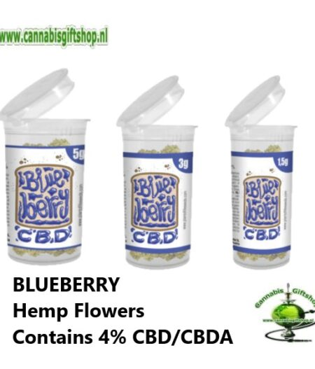 BLUEBERRY Hemp Flowers Contains 4% CBD/CBDA