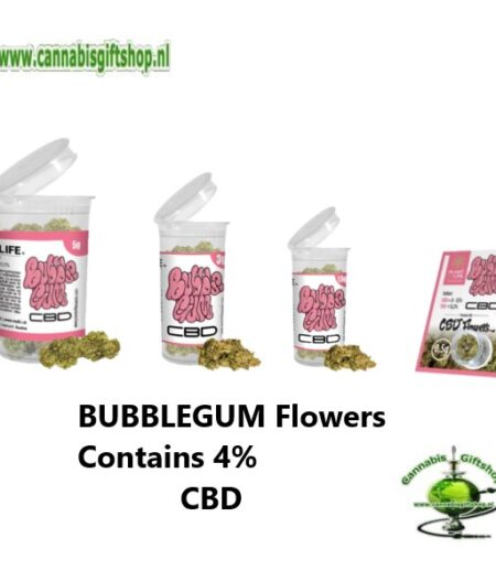 BUBBLEGUM Hemp Flowers Contains 4% CBD