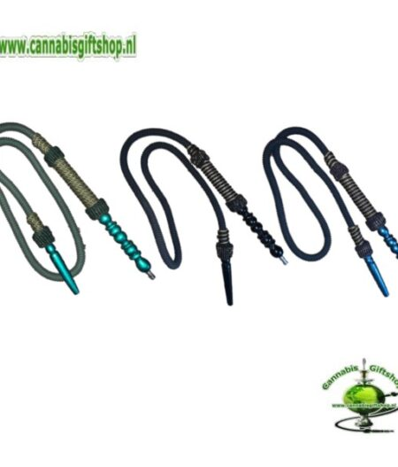 Shisha Hose Blue /Black / Green Gold