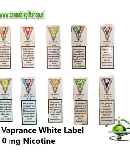 Vaprance White Label 0 mg Nicotine