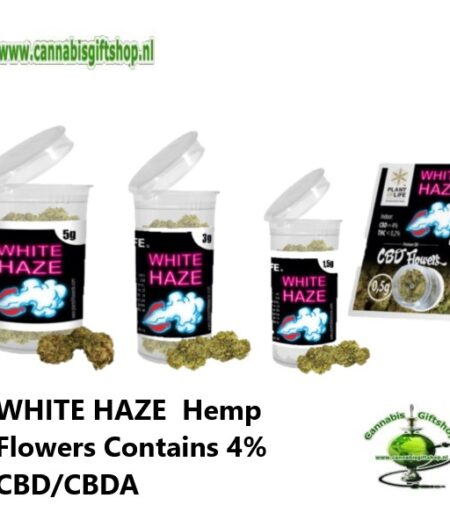WHITE HAZE 0Hemp Flowers Contains 4% CBDCBDA