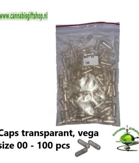 Caps transparant, vega size 00 - 100 pcs