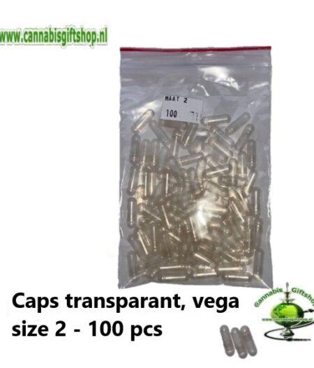 Caps transparant, vega size 2 - 100 pcs