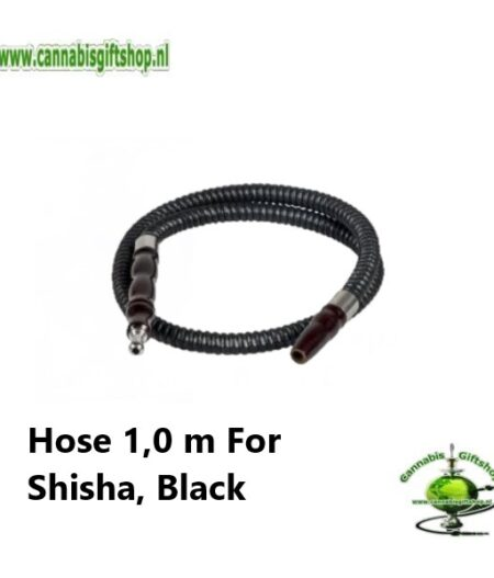 Hose 1,0 m For Shisha, Black