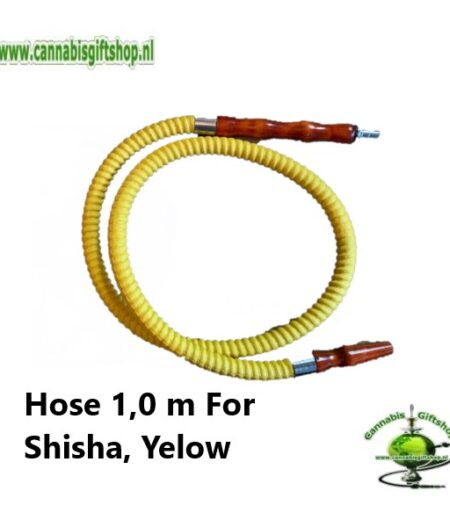 Hose 1,0 m For Shisha, Yelow
