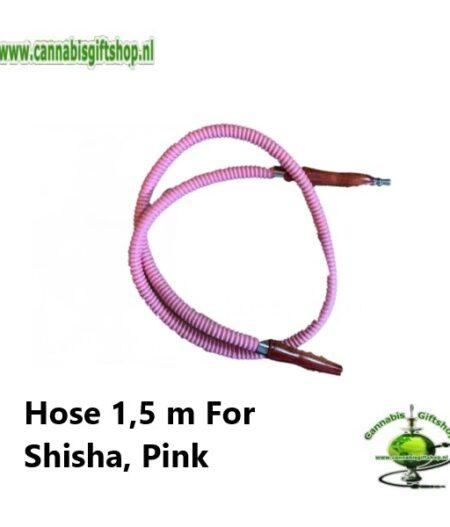 Hose 1,5 m For Shisha, Pink