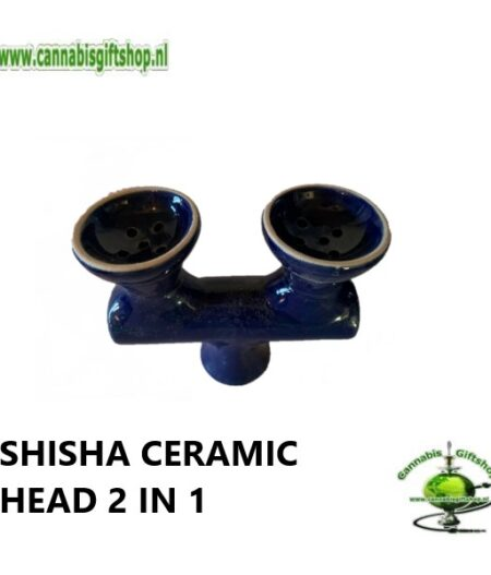 SHISHA CERAMIC HEAD 2 IN 1 Blauw