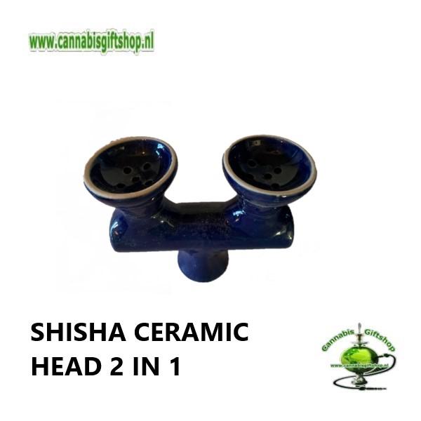 SHISHA CERAMIC HEAD 2 IN 1 Blauw