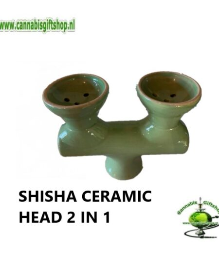 SHISHA CERAMIC HEAD 2 IN 1 Groen