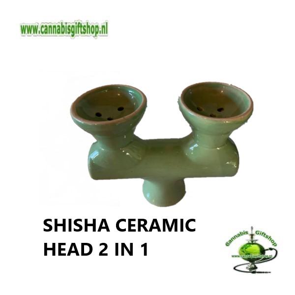 SHISHA CERAMIC HEAD 2 IN 1 Groen
