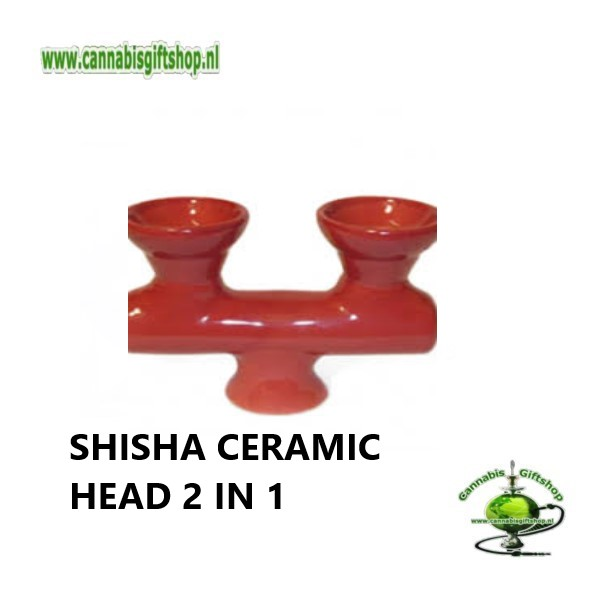 SHISHA CERAMIC HEAD 2 IN 1 Rood
