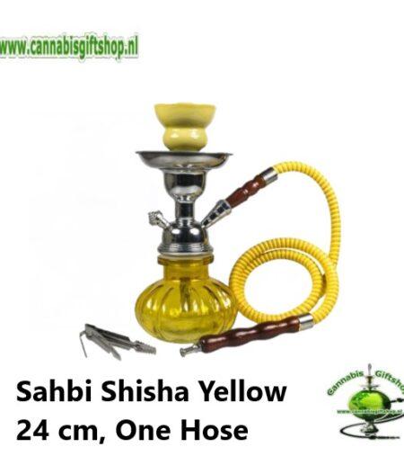 Sahbi Shisha Yellow 24 cm, One Hose
