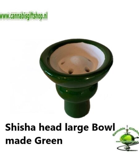 Shisha head large Bowl made Green