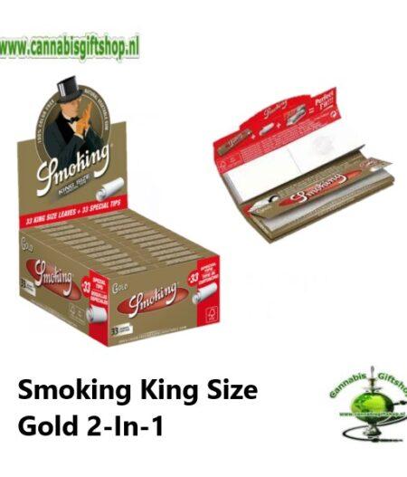 Smoking King Size Gold 2-In-1 Pcs