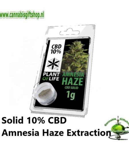 Solid 10% CBD Amnesia Haze Extraction