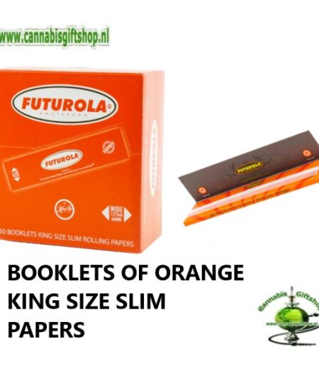 BOOKLETS OF ORANGE KING SIZE SLIM PAPERS