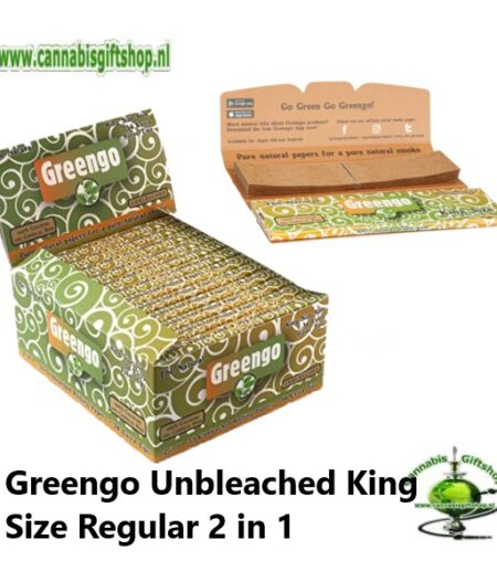 Greengo Unbleached King Size Regular 2 in 1