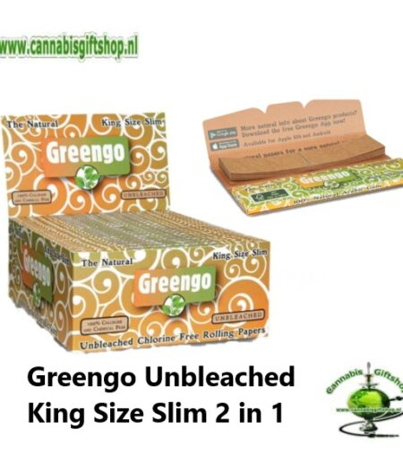 Greengo Unbleached King Size Slim 2 in 1