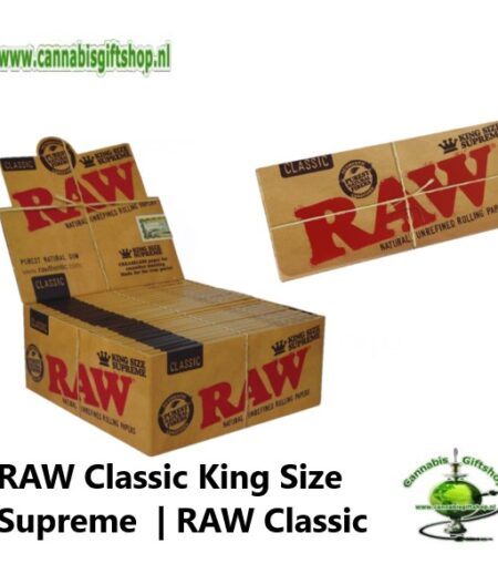 RAW Classic King Size Supreme Rolling Papers