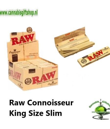 Raw Organic Connoisseur King Size Slim 2 In 1