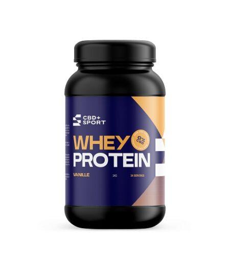 CBD + SPORT – Whey Protein Vanille, 1000gram