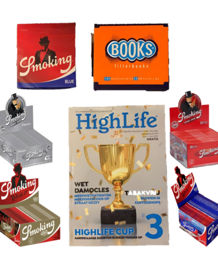 Smoking Blue King size Tip Books & Gratis Highlife